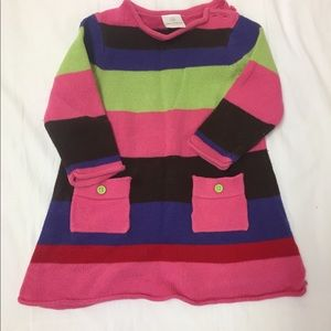 Hanna andersson sweater dress size 70.